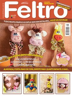 Editora Minuano - Artesanato - Feltro : COL TRABALHOS EM FELTRO 038