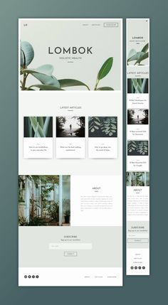 Responsive UI Kit with modern, contemporary, natural design elements.