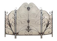 Elegant French Country Metal Scrollwork Fireplace Screen Home Decor Classical