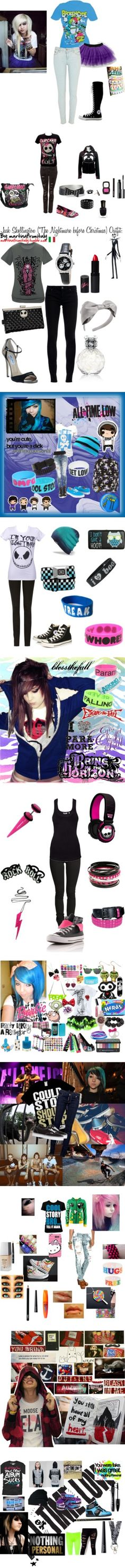 """Scene/Emo/Bands/Glamour Kills :3"" by ninja-stealthhh ❤ mliked on Polyvore"
