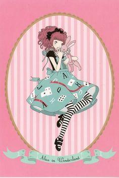 poisoned-apple:  Kira Imai's Alice in Wonderland Postcard