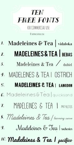 My top 10 favorite free, commercial-use fonts | via She Makes a Home