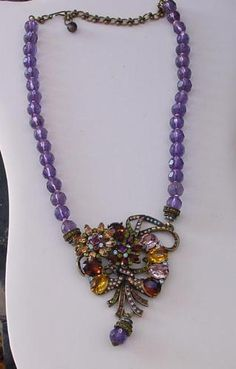 Heidi Daus Bead and Motif Drop Necklace | eBay