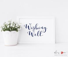 Items similar to Wishing Well Printable. Wishing Well Sign. Wishing Well Wedding. Wishing Well Bridal Shower. on Etsy Wedding Favours Sign, Gift Table Wedding, Wedding Hashtag Sign, Beer Wedding, Wedding Donuts, Wedding Signage, Wedding Cards, Wedding Navy, Wedding Reception