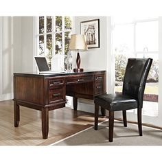 Chamberlain Black Granite Top Writing Desk