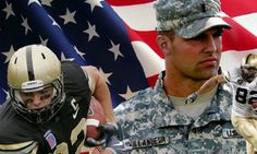 """Media went nuts over how """"brave"""" Michael Sam's kiss was? Funny how we don't hear about this Eagles pick. He's 6'9"""", a former Army Ranger, and earned a Bronze Star. He represents all that's best in our nation, and embodies brave in my book!!!"""