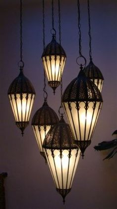 Home Design - Lighting - Hanging Moroccan-Style Lamps Decor, Goth Home, Victorian Homes, Lanterns, Moroccan Style, Home Decor, Lights, Gothic House, Gothic Interior