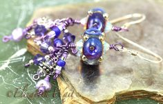 Sparkling Purple Lilac Handmade Artisan betsybeads by betsymn, $22.00