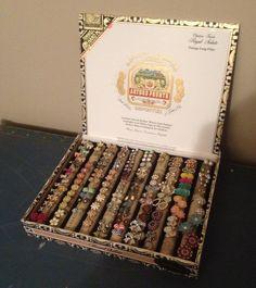 Cigar box earring holder