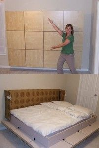 Modern Day Murphy Bed IKEA, DIY Instructions!