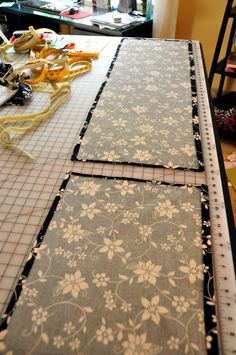 How to make a bedskirt and attach with velcro.