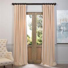 Exclusive Fabrics & Furnishing VCCH-HYR120 Vintage Cotton Velvet Curtain