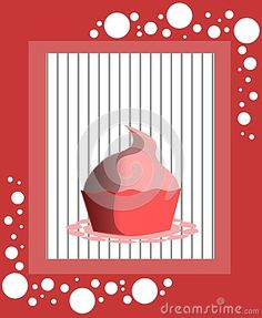 Image representing an cupcake on an abstract background