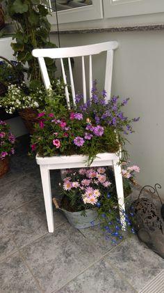 Stuhl Sommerlich Bepflanzt