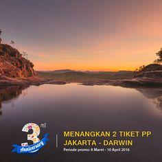 Ayo ikuti promo anniversary #NusaTrip yang ke 3, dapatkan 2 #tiketpesawat ke Darwin Australia GRATIS! Kunjungi halaman promo nya di http://goo.gl/ZBGmyG *Syarat dan ketentuan berlaku
