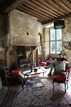 Shoe designer Michel Perry's house in Bourgogne, France.