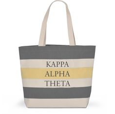 Kappa Alpha Theta Sorority Tote with Stripes - Brothers and Sisters' Greek Store