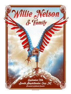 Willie Nelson - Posters | Zeb Love - Pittsburgh Artist & Illustrator