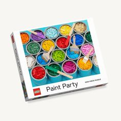 This jigsaw puzzle is a whole new way to build with LEGO bricks! Puzzle Party, Nail Polish Jewelry, Creative Company, Lego Brick, Paint Party, Puzzle Pieces, Legos, The Ordinary, Rainbow Colors