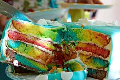 Rainbow cake_inside | by crissis_2000 Food Styling, Vanilla Cake, Cake Decorating, Rainbow, Desserts, Decorations, Cakes, Rain Bow, Tailgate Desserts