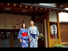 The best Ryokan in Japan (Ryokan = traditional Japanese inn) 旅館での素敵なひと時 - YouTube. They show this beautiful place and their experience. They also show the process for putting on a yukata.