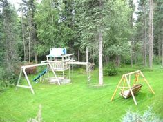 Childrens play area, fenced backyard. Oh I wish! Would definitely make my life easier.