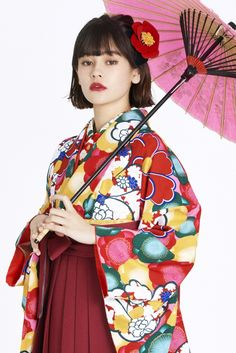 レトロ柄 袴 赤色 商品画像2