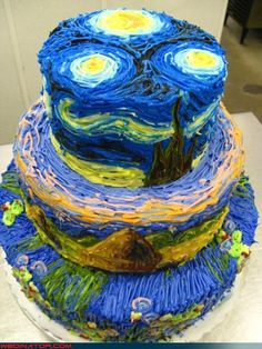 The art history nut in me thinks this is the coolest cake ever!