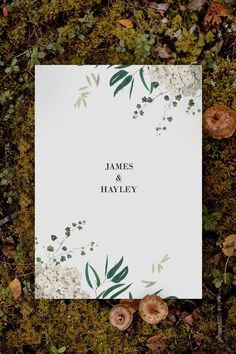 Stunning green native botanical Wedding Invitation by Sail and Swan Studio. The design features native greenery such as green eucalyptus leaves, cream hydrangea florals and other botanical elements. Botanical Wedding Theme, Bohemian Wedding Theme, Botanical Wedding Invitations, Bohemian Wedding Inspiration, Floral Invitation, Eucalyptus Leaves, Vintage Floral, Hydrangea, Swan