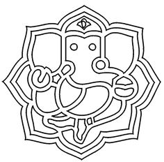 Ganesh Ji Outline My Brother Ganesha Colouring Clipart