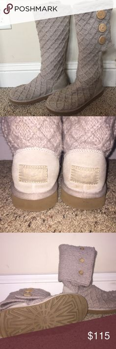 Lattice ugg boots Great condition! Don't fit my feet:( can be worn up or folded down. Open to offers!! UGG Shoes