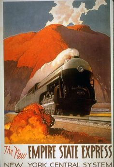 The new state express | Vintage poster