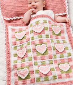 Pretty Hearts Baby Sleeping Bag Crochet Pattern. If I have a girl my mom is totally making this :))