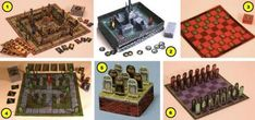 Build Your Own Halloween Board Games Paper Models - by Ravesblight - == -   Ray O`Bannon, from Ravensblight website, shares six cool Halloween themed Board Games. They are based in classic board games and are very easy-to-build and play.