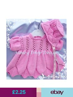 Honey Drop Designs Patterns #ebay #Crafts Baby Knitting Patterns, Baby Patterns, Drops Design, Reborn Babies, Spring Time, Pretty Outfits, Pattern Design, Diy And Crafts, Honey