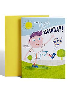 Colour-In Football Birthday Card