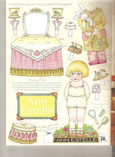 Mary Engelbreit Paper Dolls - Set of 6 Ann Estelle - at home and play Mary Engelbreit, Paper Toys, Paper Crafts, Paper Doll House, Vintage Paper Dolls, Puppets, Art Dolls, Illustrators, Origami