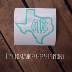 ANY State Monogram Outline Decals