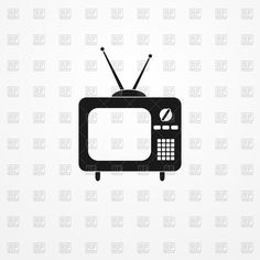 Download FREE vector clipart image Retro TV set icon, 76489, download free vector clipart (EPS, JPG)