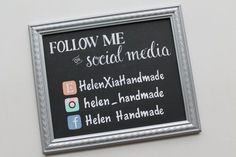 Custom hand painted signs are perfect for vendors and crafters that attend shows. This social media sign makes a unique addition to your booth. #southerntiqueapothecaryco.