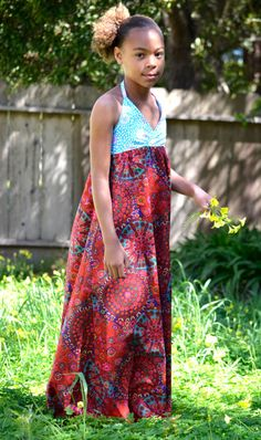 Girls Maxi Halter SunDress - Wedding, Beach, Cruise, or just for the perfect Summer Day