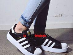 Adidas Originals Superstar Bold W - Chaussure Pas Cher Pour Homme/Femme Noir/Blanc BA7667-Boutique Adidas Originals de Running (FR) - LaAdidasOriginals.fr