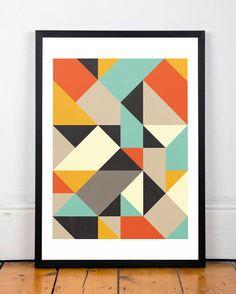 Als A3 en A2. Minimalistische abstracte kunst Abstract door ShopTempsModernes