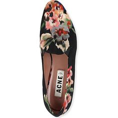 ACNE Noa fabric slippers
