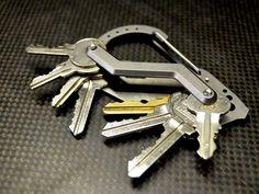 Der Keybiner vereint eine Reihe unterschiedlicher Dinge. Neben der offensichtlichen Funktion als Karabinerhaken, befinden sich verschiedene kleine Werkzeuge an dem cleveren Helfer. Außerdem kann ma…