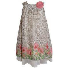 Toddler Girl Blueberi Boulevard Leopard Floral Dress