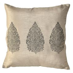 WIcker Emporium: Block Print Design Cushion Covers. Couple of these!