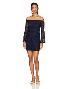 Speechless Women's Off The Shoulder Bell Sleeve Dress (Junior's) >>> Check out this great product. (This is an affiliate link) Bell Sleeve Dress, Bell Sleeves, Junior Dresses, Dress Brands, Off The Shoulder, Fashion Brands, Topshop, Formal Dresses, Link