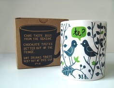 Welsh Language Mugs NEW with Screen printed by cathrynweatherhead, $12.00