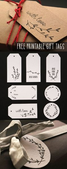 — Some sweet little hand illustrated gift tags, the...